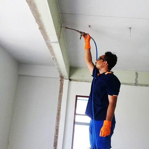 งานซ่อมรอยร้าวตามแนวคาน ด้วยการอินเจ็คชั่น อาคารย่านสุขุมวิท