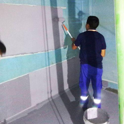 งานซ่อมบ่อน้ำใต้ดิน ด้วยการเคลือบอีพ็อกซี่ (epoxy coating)