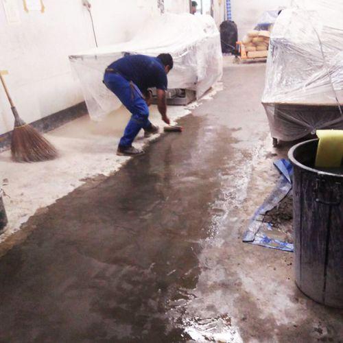 งานซ่อมผิวหน้าคอนกรีตหลุดร่อน ด้วยวัสดุ Concrete Fast Setting